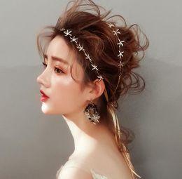 starfish wedding hair 2019 - Bridal hair, headwear, sweet wedding dress, golden starfish banquet hair accessories cheap starfish wedding hair
