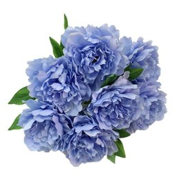 $enCountryForm.capitalKeyWord UK - blue artificial peony head for decoration wholesale silk flower peony wed decoration in white purple flush for aisle arch bouquet