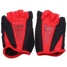 Hand gloves Half fingers online shopping - Moke Half finger Bicycle Gloves Sweat absorbing for Mountain Cycling made of wearable and microfiber PU protect your hands well