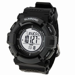 Esporte dos homens Digital-relógio SUNROAD FR821A Altímetro Barômetro Bússola Termômetro Tempo Pedômetro Relógio Digital