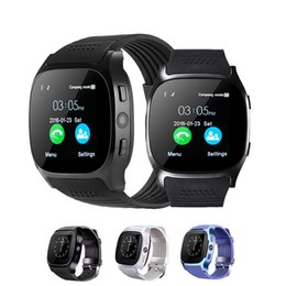 t8 gps tracker UK - Bluetooth Smart Watch t8 Support SIM TF Card With Camera Sports Wristwatch Music Player For Android with package
