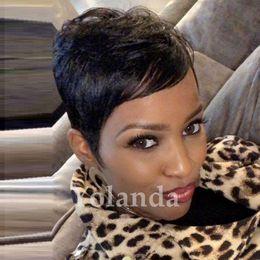 $enCountryForm.capitalKeyWord UK - 100% Human Real Hair Longer Pixie Cuts Wig Short Cut Layered Wigs For Black Women Popular Hairstyles Glueless Black Bob Wigs