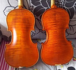 Discount ebony models 2PCS top grade 4 4 violins Strad model 1715 ,100% hand making