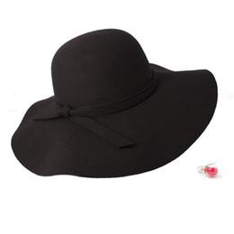 Large brim femaLe hats online shopping - Fashion Summer fashion fedoras vintage pure Women s Beach Sun hat female waves large brim sunbonnet