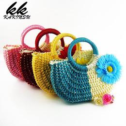 Опт Соломенные сумки тканые женские сумки дизайнер пляж ткачество сумка летние путешествия Сумки женские сумки вязание покупки ручной работы сумка