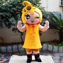 Wholesale mascot costume sun online – ideas 2018 Hot sale Pretty Sun flower girl Mascot Costume