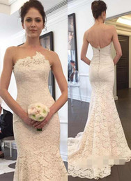 China Latest Lace Mermaid Wedding Dresses With Modest Appliques Zipper Back Bridal Wedding Gowns Custom Made In China cheap china bridal wedding dresses white suppliers