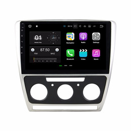 mobile mirrors Canada - Android 7.1 Car Radio GPS Multimedia Head Unit Car DVD for Skoda Octavia 2010 2011 2012 2013 2014 With 2GB RAM Bluetooth Mirror-link