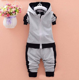 $enCountryForm.capitalKeyWord NZ - Spring Newborn Suits New Fashion Baby Boys Girls Brand Suits Children Sports Jacket+Pants 2pcs sets Children Tracksuits
