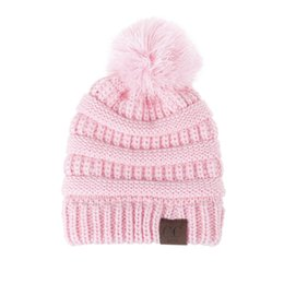 834300ad3cb Wholesale Baby Knit Hats UK - Children Hat Toddler Kids Newborn Cute Winter  Kids Baby Hats