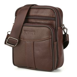 Chinese  Vintage Men Cowhide Leather Messenger Mini Bags Mobile Phone BAGS Cross Body Bag Genuine Leather Belt Waist Flap Pack Bag Male manufacturers