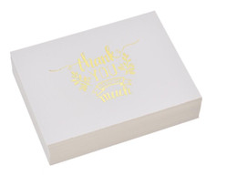 $enCountryForm.capitalKeyWord UK - Mini Gold Embossed Thank you Card Valentine Christmas Party Invitation Letter Greeting Cards free shipping high quality wholesale oem 2018