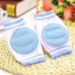 Discount knees protector baby kids elbow pads 1 Pair Infants Baby Knee Pads Protector Kids Children Safety Crawling Elbow Cushion Baby Kneecap Leg Warmers High Qualit