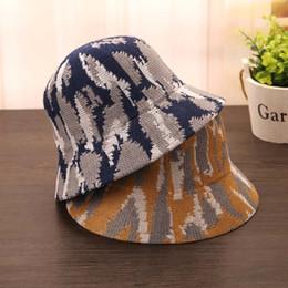 Fish Bucket NZ - 2018 NEW Winter Wool Hat Knitted Bucket Hats for Women Foldable Bucket Cap Panama Fishing Cap Summer Sun Bucket Hat Cotton C926