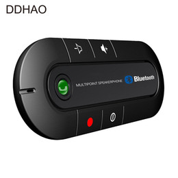 Discount bluetooth handsfree car kit for iphone - Multipoint Speakerphone 4.1+EDR Wireless Bluetooth Handsfree Car Kit MP3 Music Player for SmartPhone IPhone Android phon