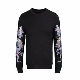 $enCountryForm.capitalKeyWord UK - dress 2018 Spring Dragon pattern printing Winter Warm Sweater Men Brand Clothing Slim Fit O-Neck Mens Sweaters W1007