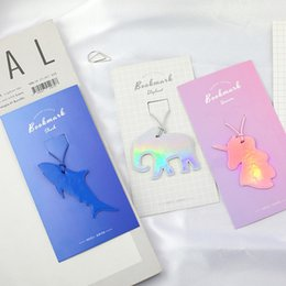 Cute korean bookmarks online shopping - Cute Animal Unicorn Cat Elephant Leather Bookmark marque page Kawaii Book Marks Gift Korean Stationery School Supplies