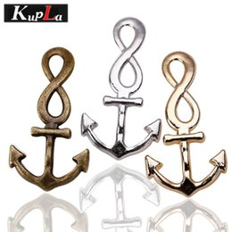 Nautical jewelry peNdaNt charms online shopping - whole saleKupla Metal Nautical Infinity Anchor Charms DIY Jewelry Handmade Anchor Pendant Charms for Jewelry mm Pieces C5246