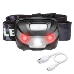$enCountryForm.capitalKeyWord UK - LED Headlamp Flashlight Rechargeable Headlights, USB Cable Included, Red Lights, 5 Modes, Hands Free Running, Jogging, Hiking