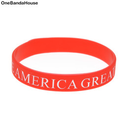 Glow Party Decorations Australia - New Sell 1PC Ink Filled Logo Make America Great Again Silicone Wristband Classic Decoration Bracelet Adult Size
