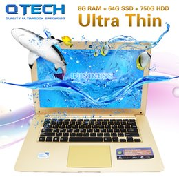 "ultrabook laptop 14 2019 - 14"" 8GB RAM 64GB SSD +750GB HDD Laptop Computer Fast CPU Intel Windows Ultrabook Office AZERTY Spain German Russian"