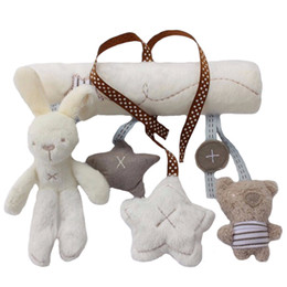 Safe toyS for babieS online shopping - Pendant for baby car rabbit plush toys safe bed toys of rabbit plush pendant colors to choose by yourself