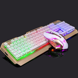 Venta al por mayor de Teclado mecánico retroiluminado V1 Teclado para juegos de tamaño completo Teclas antishock Conector USB retroiluminado con cable USB 4000 iluminado por infrarrojos