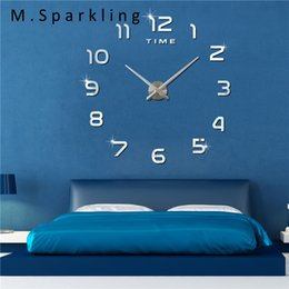 $enCountryForm.capitalKeyWord NZ - [M.Sparkling] 3D DIY Digital Wall Clock New Design Watch Home Decor Gift Modern Self Adhesive Electronic Large Wall Clocks 3M004