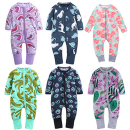 Zebra print baby online shopping - Baby Print Rompers Dinosaur Pineapple Camouflage Floral Designer Boys Girls Cotton Clothes Spring Autumn Newborn Infant Kids Jumpsuits