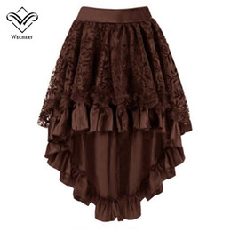 Wholesale plated skirts for sale - Group buy Women s Gothic Skirt Female Vintage Short Steampunk Elastic Ruffles Charming Pleated vintage Plated Irregular Shows Club Dance Dress