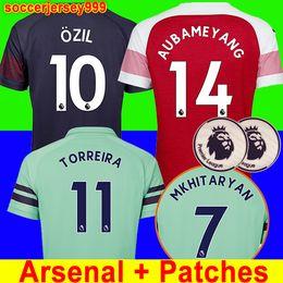 Thailand Arsenal soccer jersey 18 19 AUBAMEYANG LACAZETTE 2018 2019  Camiseta XHAKA OZIL football kit shirt uniforms maillot de foot third 99e3ebebf