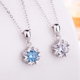 $enCountryForm.capitalKeyWord NZ - S925 Silver Zircon Stone Snowflake Pendant Korean Sterling Silver Necklace Sunny Day Fashion Simple Female Accessories Clavicular