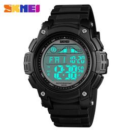 66690d3c51e8 Skmei hombres reloj deportivo al aire libre impermeable reloj de pulsera  digital crono doble tiempo pantalla led reloj despertador relogio masculino