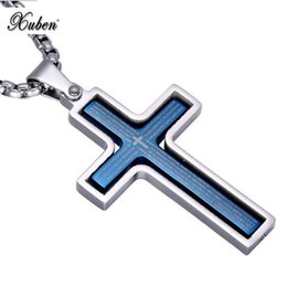 $enCountryForm.capitalKeyWord UK - Christian Rotating Cross Pendant Necklace Titanium Steel Scripture Religious Jewelry 4 color sale