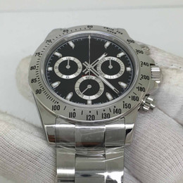 Men liMited watches chronograph online shopping - Mens Limited Editio Super JH Factory Chronograph Automatic Cal Watch black Dial Watches Men Steel Sport Swiss mm Wristwatches