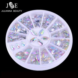 3d Design Tools Canada - tools 3 Boxes Lot Rhinestones Decoration 3D Wheel Gems Design Flat Stone Boat Round Bling Crystal Sticker Nail Art Tools