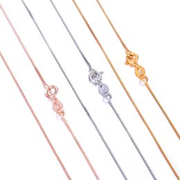 $enCountryForm.capitalKeyWord UK - Martick Genuine 925 Sterling Silver Box Chain For Woman 40cm 45cm Chain Necklace Gold Rose Gold Color Collar GSC3