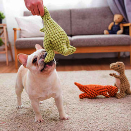 $enCountryForm.capitalKeyWord NZ - Dog Chewing Toys Corn Kernels Material Durable Noise Maker Squeakers Toy for Large Dog Dinosaur Shape Tooth Cleaning Toys