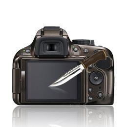 Clear Optical Glass Glass Panel Protector de Película Templado 0.4mm HD Guardia de Protección Cubierta Impermeable Para Nikon D5100 5200 NUEVO 40 en venta