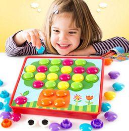 Al por mayor-nuevo mosaico creativo regalos de los niños de uñas imagen compuesta Ceative mosaico de uñas kit de uñas rompecabezas juguetes botón de arte