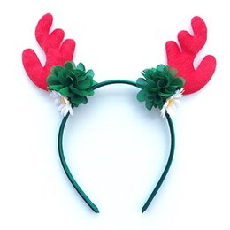bebe hair 2019 - Baby Christmas Hairbands Newborn Headband for girls Hair Accessories baby Kids Deer Horns tiara bebe Christmas Home Part