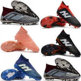 Top quality mens soccer cleats Predator 18.1 soccer shoes PP Predator 18+ high ankle football boots scarpe da calcio Blackout football shoes for sale free shipping outlet pay with paypal buy cheap popular outlet store for sale free shipping 2014 newest 6kJDtTDJU