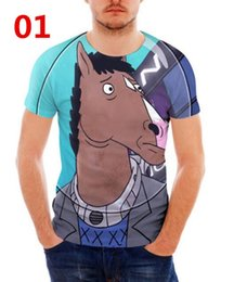 Wholesale bojack horseman online – design BoJack Horseman D Printed Women men s Casual Short Sleeves T shirts N01