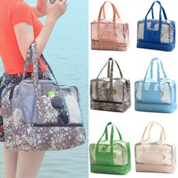 Large canvas fLoraL tote bags online shopping - 10 Styles Tote Bag Storage Stuff Sacks Dry Wet Separation Picnic Swimming Beach Large Waterproof Shoulder Bag Outdoor Sports NNA490