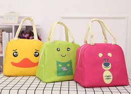 lunch bags for kids 2019 - New Portable Cartoon Cute Lunch Bag Insulated Cold Canvas Picnic Totes Carry Case For Kids Women Thermal Bag cheap lunch