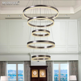 hanging circle lights Australia - Modern LED Pendant Lights 5 Circle Rings Pendant Lamp For Foryer Living room Creative LED Lustre Hanging Home Luminaires