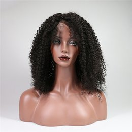 short curly bob wigs Canada - Afro Curly Lace Front Human Hair Wigs Kinky Curly Bob Lace Wig Brazilian Remy Hair Short Bob Wig With Baby Hair For Women