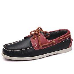 Novos Sapatos de Barco Homem Lace Up Mocassins Casuais Tamanho 45 sapato masculino Chaussure Homme Do Vintage Zapatillas Hombre Mocassins venda por atacado