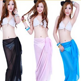 wholesale towels free shipping 2019 - Free Shipping Sexy beach cover up women's fashion sarong summer bikini cover-ups wrap pareo beach dress skirts towel 95*