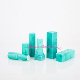 $enCountryForm.capitalKeyWord Australia - jade emerald marble design green empty lipstick tube container balm logo customized printing stamp 12.1mm cup square lipstick